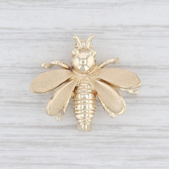 Vintage Brooch, Bumble Bee Brooch, Yellow Gold Bro