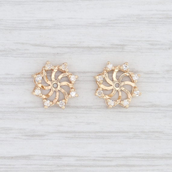 Diamond Earring Enhancers, Yellow Gold Earrings, J