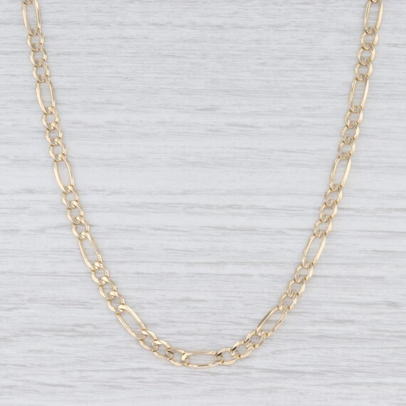"Figaro Chain Necklace, Yellow Gold Necklace, 18"" N"