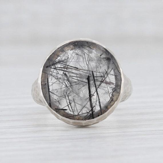 Tourmalated Quartz Ring, Gemstone Statement Ring,… - image 2