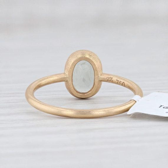 Green Tourmaline Ring, 18k Gold Ring, Yellow Gold… - image 4