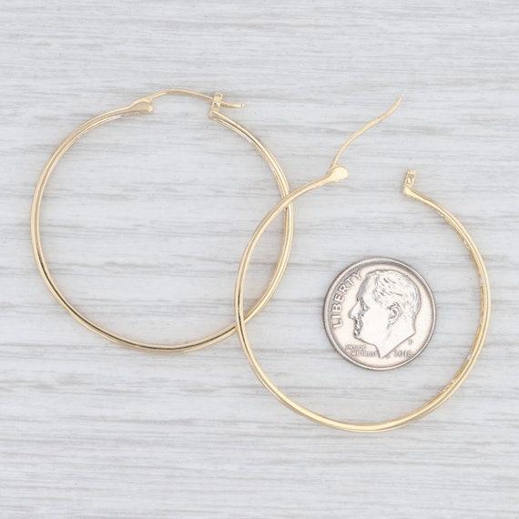 Diamond Hoop Earrings, Yellow Gold Earrings, Snap… - image 4