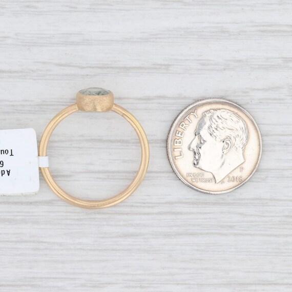 Green Tourmaline Ring, 18k Gold Ring, Yellow Gold… - image 6