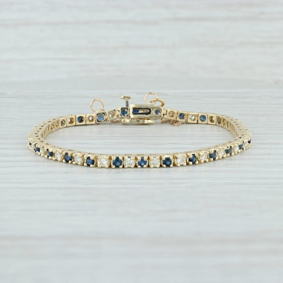 Sapphire & Diamond Bracelet, Sapphire Diamond Tenn