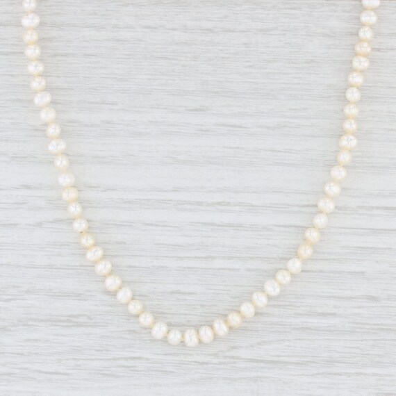 Pearl Strand Necklace, Pearl Necklace, Gold Pearl