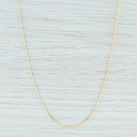 Box Chain Necklace, Gold Box Chain Necklace, Gold