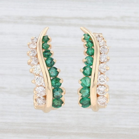 Emerald Earrings, Emerald & Diamond Earrings, Jour