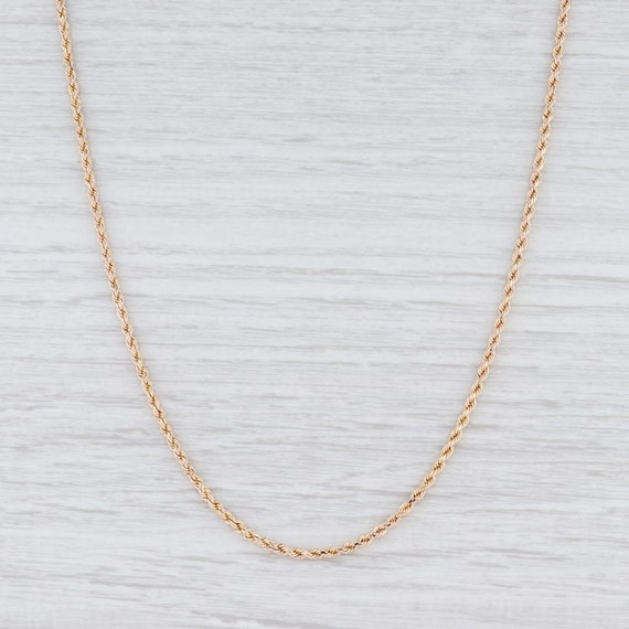 "Rope Chain Necklace, Yellow Gold Chain, 22"" Chain"