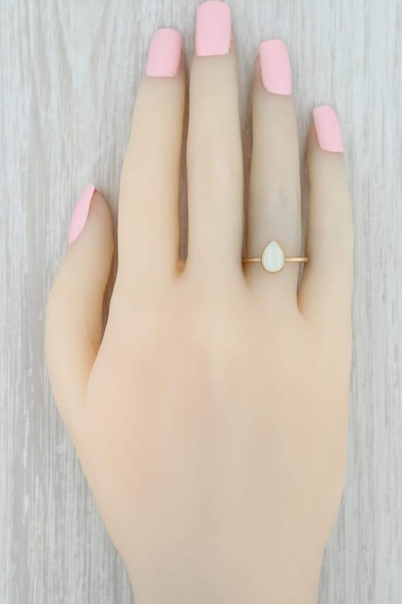 Opal Teardrop Ring, 18k Gold Ring, Yellow Gold Ri… - image 9