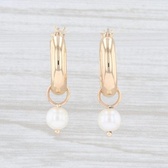 Cultured Pearl Earrings, Dangle Earrings, Hoop Ear