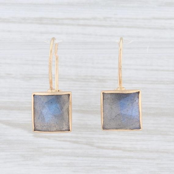 Labradorite Drop Earrings, Labradorite Earrings, Y