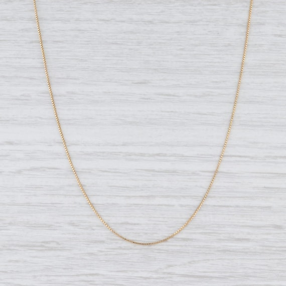 "Box Chain Necklace, Yellow Gold Necklace, 16"" Chai"