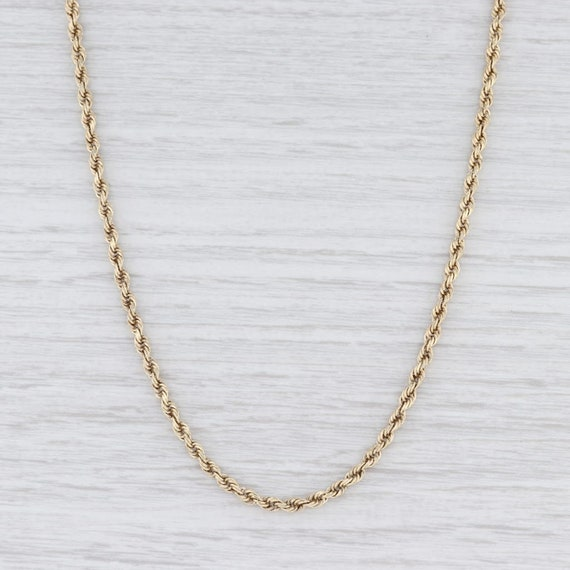 "Rope Chain Necklace, Gold Chain Necklace, 18.25"" C"