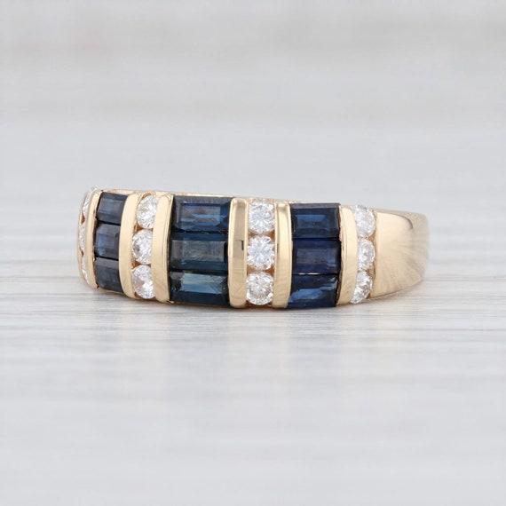 Sapphire & Diamond Ring, Yellow Gold Ring, Gemston