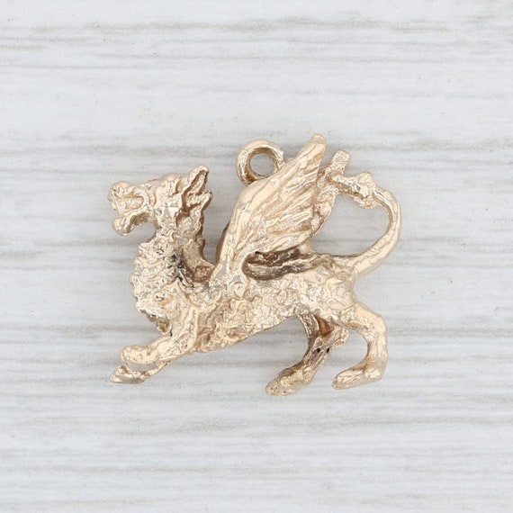 Dragon Charm, Yellow Gold Dragon Charm, European S