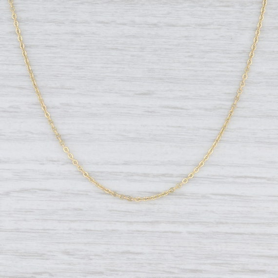 "Cable Chain Necklace, Yellow Gold Chain, 15"" Chain"