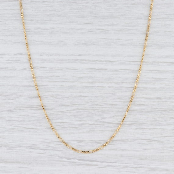 "Figaro Chain Necklace, Yellow Gold Chain, 20.5"" Ch"
