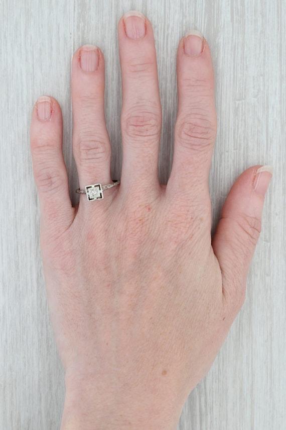 Vintage Diamond Ring, Ostby Barton Ring, Diamond … - image 7