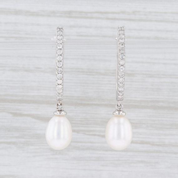 Freshwater Pearl Earrings, Teardrop Pearl Earrings