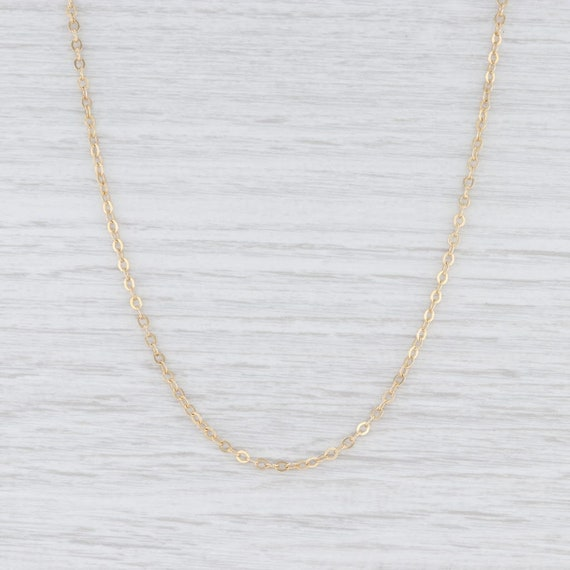 Cable Chain Necklace, Yellow Gold Chain, Gold Chai