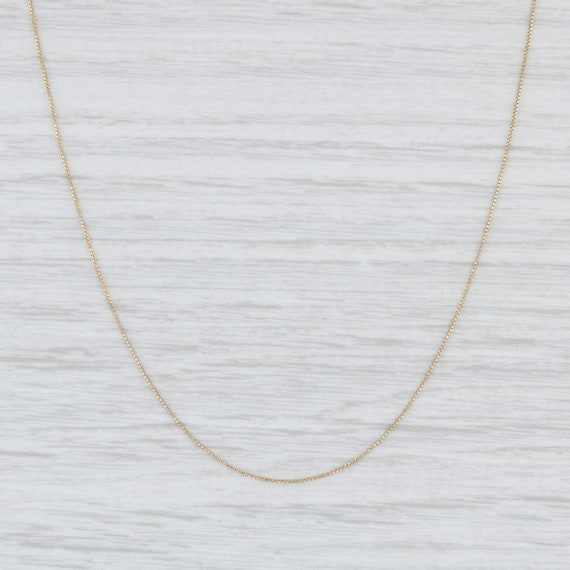 """Box Chain Necklace, Yellow Gold Necklace, 18"""" Neck"""