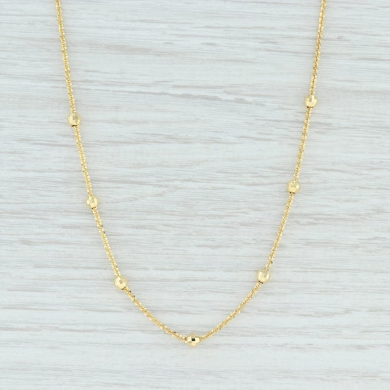 Gold Chain Necklace, Beaded Nugget Chain Necklace,
