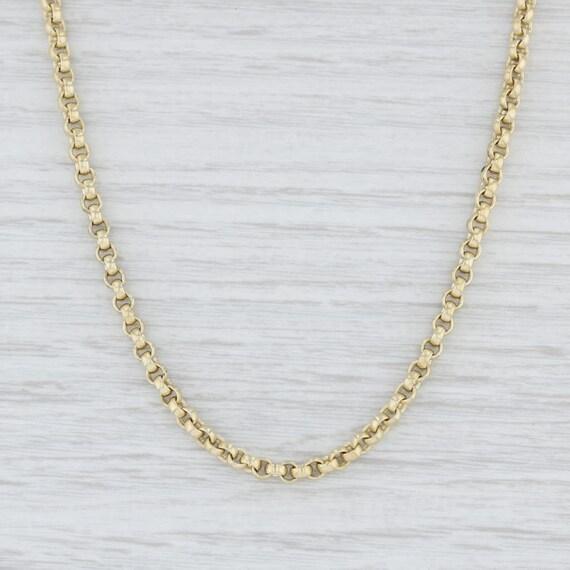 Slane & Slane Necklace, Rolo Chain Necklace, Yello
