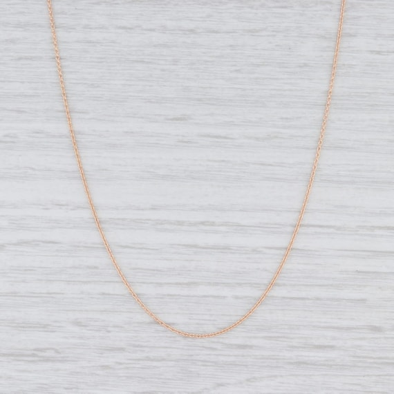 "Cable Chain Necklace, Rose Gold Chain, 16"" Chain N"