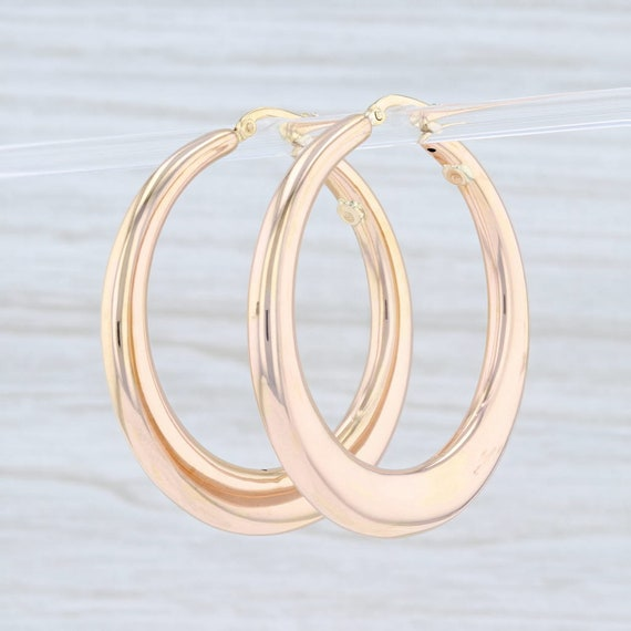 Hoop Earrings, Statement Earrings, Yellow Gold Hoo