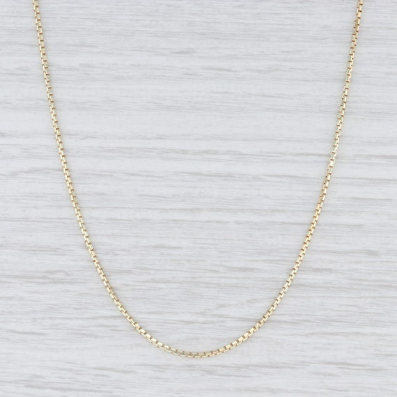Box Chain Necklace, Yellow Gold Chain, Gold Neckla