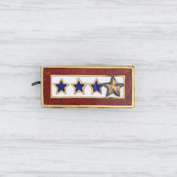 Sons in Service Pin, Gold Star Pin, 10k Yellow Gol