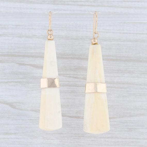 Resin Earrings, Tapering Pyramid Earrings, Dangle