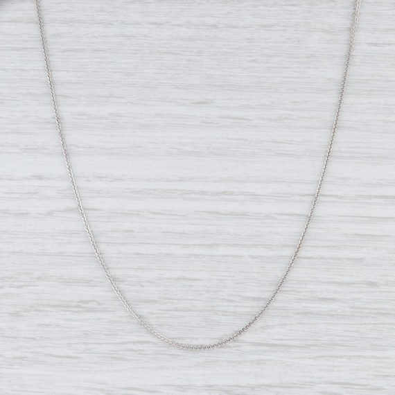 "Wheat Chain Necklace, White Gold Chain, 18"" Chain"