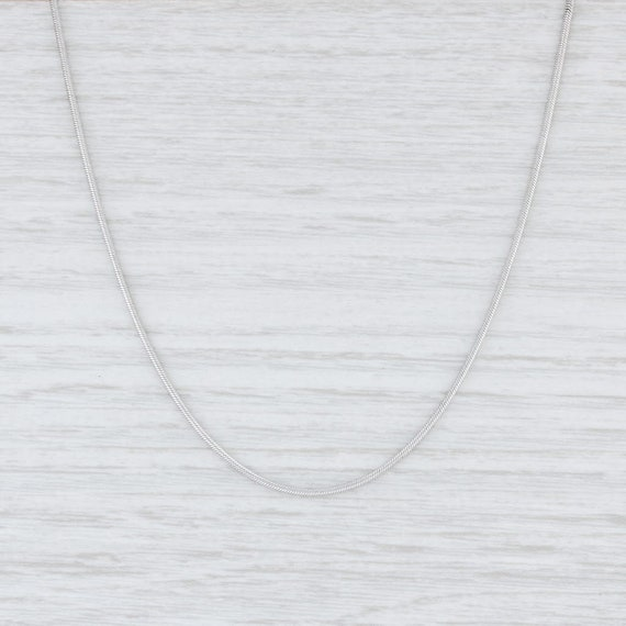 Snake Chain Necklace, White Gold Chain Necklace, 1