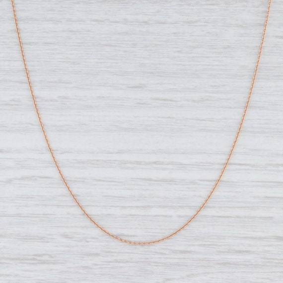 """Rose Gold Necklace, Rose Gold Chain, 16"""" Chain Nec"""