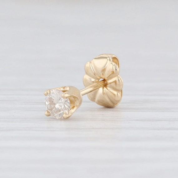 Single Diamond Earring, Solitaire Stud Earring, Pi