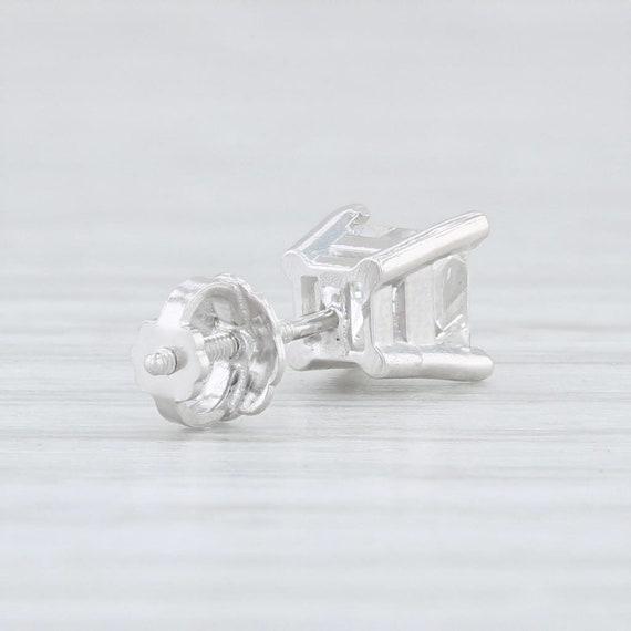Single Diamond Stud, Single Diamond Earring, Whit… - image 3