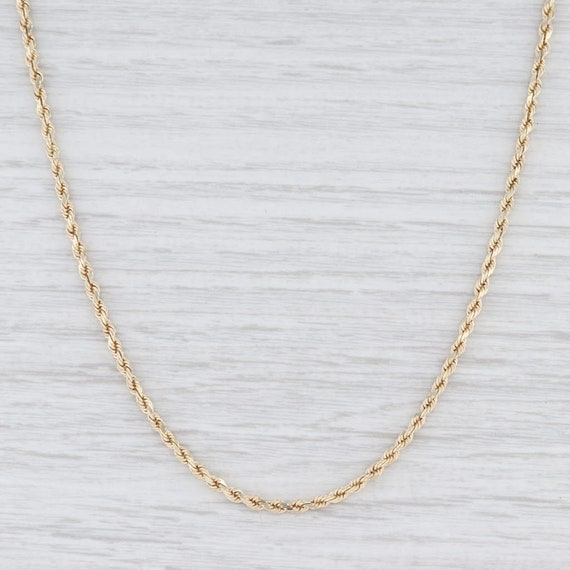 "Rope Chain Necklace, Yellow Gold Chain, 20"" Chain"