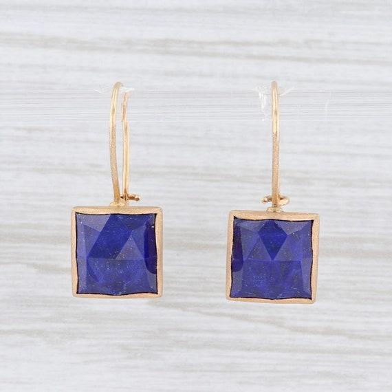 Lapis Lazuli Drop Earrings, Blue Stone Earrings, Y