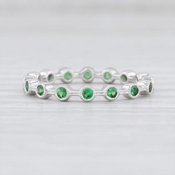 Tsavorite Garnet Ring, Green Garnet Ring, Garnet … - image 2