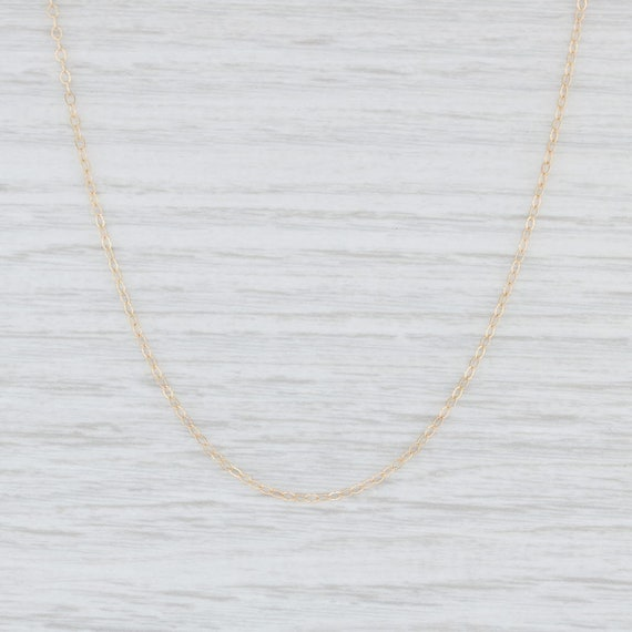 "Cable Chain Necklace, Yellow Gold Necklace, 18"" Ch"