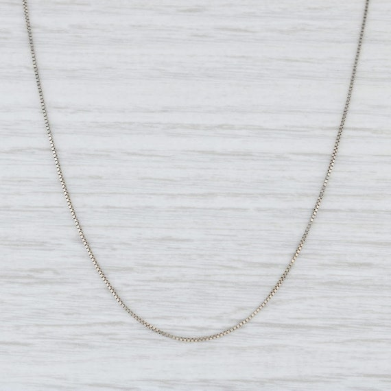 """Box Chain Necklace, White Gold Necklace, 18""""- 20"""""""