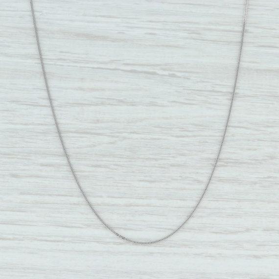 """Foxtail Wheat Chain, White Gold Chain, 17.75"""" Chai"""