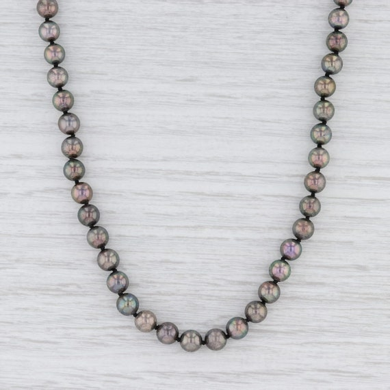 "Gray Pearl Necklace, Pearl Strand Necklace, 18"" Pe"