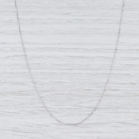 "Box Chain Necklace, White Gold Chain, 20"" Chain Ne"