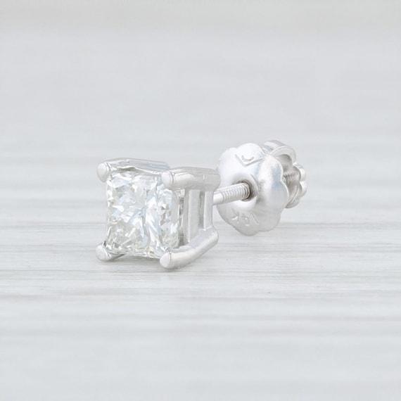 Single Diamond Earring, Single Stud Earring, White