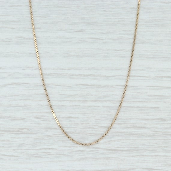 S-Link Chain Necklace, 14k Yellow Gold Chain, 15.7