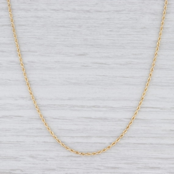 "Rope Chain Necklace, Yellow Gold Chain, 16.25"" Cha"