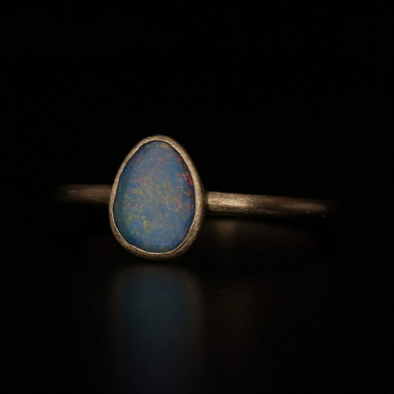 Opal Ring, 18k Gold Ring, Yellow Gold Ring, 18k So