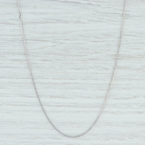 "Wheat Chain Necklace, 18"" Chain Necklace, White Go"